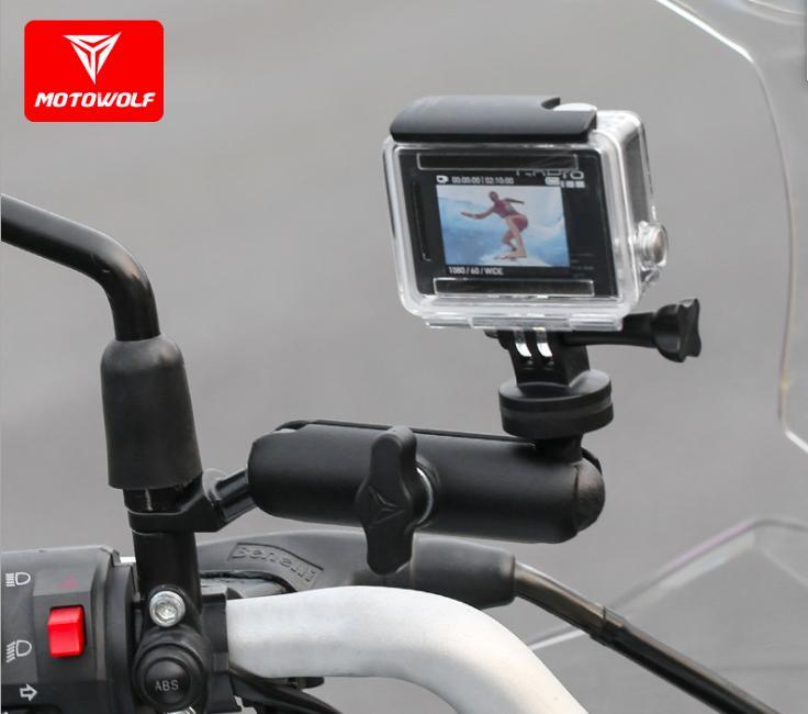 Giá Giá đỡ camera hành trình gắn chân gương xe máy - phụ kiện camera hành trình