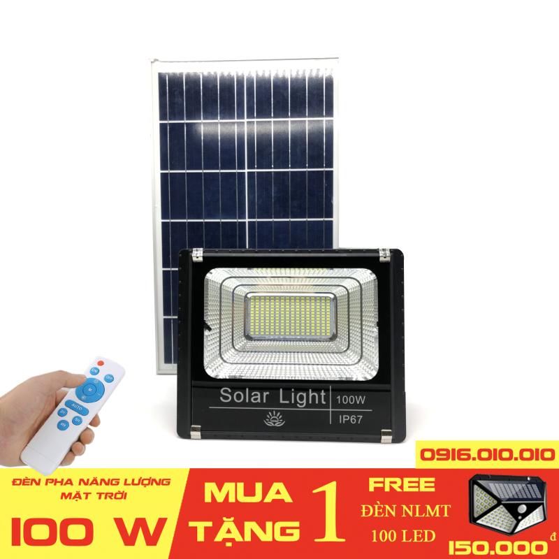 [[Có video]] Đèn năng lượng mặt trời VINDA công suất 100 W. Cảm biến ánh sáng tự động bật sáng khi trời tối, và tắt đèn khi trời sáng Thời gian chiếu sáng liên tục lên tới 8- 10 giờ