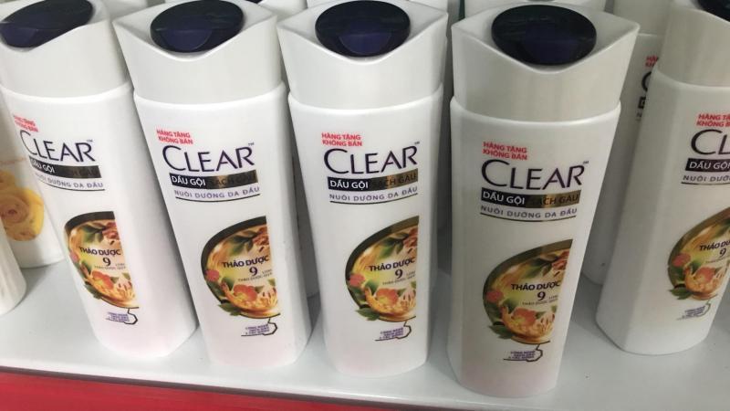 Clear thảo dược chai 140g tặng túi đựng mỹ phẩm ngẫu nhiên nhập khẩu