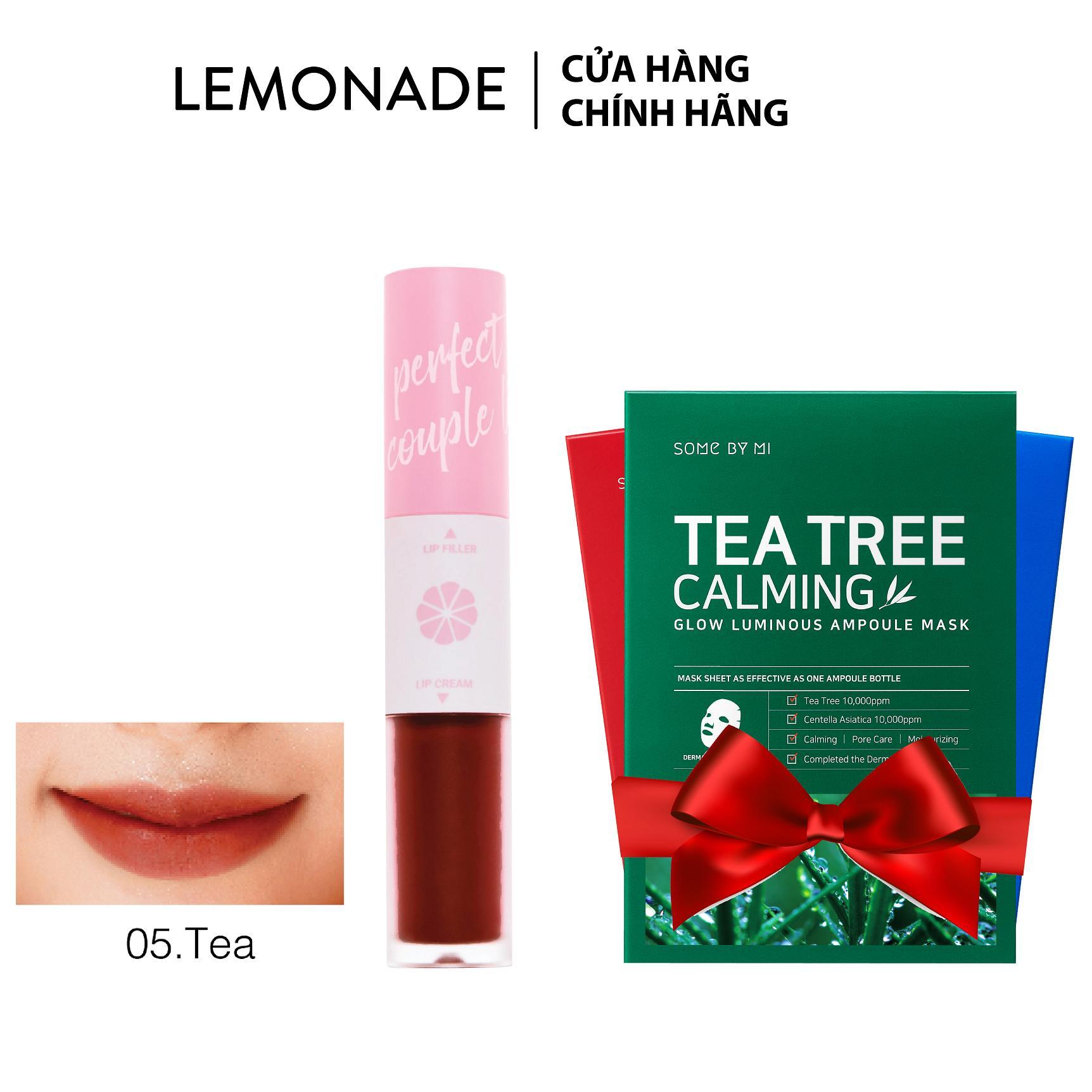 Son LEMONADE Perfect couple lip 4g - Tặng kèm mặt nạ SomeByMi Hàn Quốc