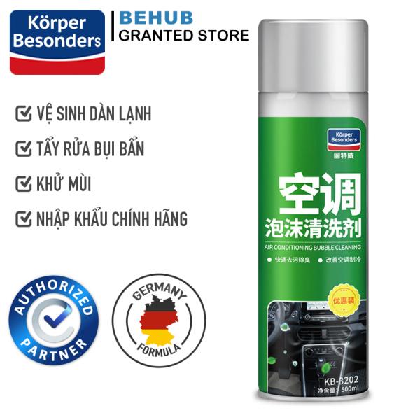 Chai xịt bọt vệ sinh dàn lạnh ô tô cao cấp Korper Besonders KB3202 500ml vệ sinh điều hòa tẩy sạch bụi bẩn, khử sạch mùi hôi