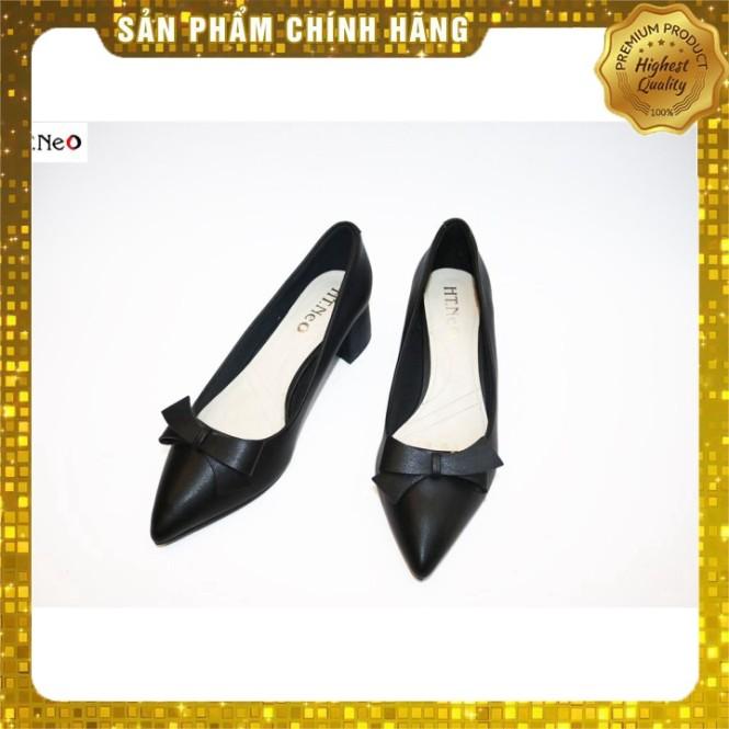 Giày Công Sở Nữ Da Bò Sịn Cực Mềm Xinh Xắn Gót Vuông 5P (Cs38-De) giá rẻ