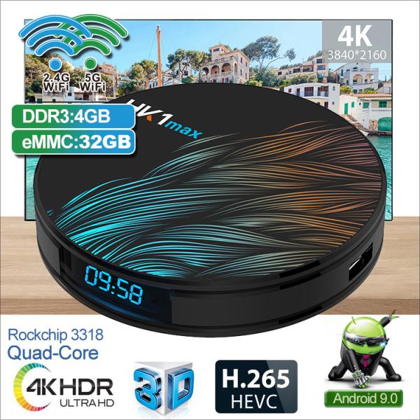 Bảng giá Android TV Box Ram 4G, bộ nhớ 32G, có tính năng tìm kiếm bằng giọng nói, độ phân giải 4k, xem thả ga các kênh giải trí, thể thao cùng gia đình, bảo hành 12 tháng HK1 MAX32G Điện máy Pico