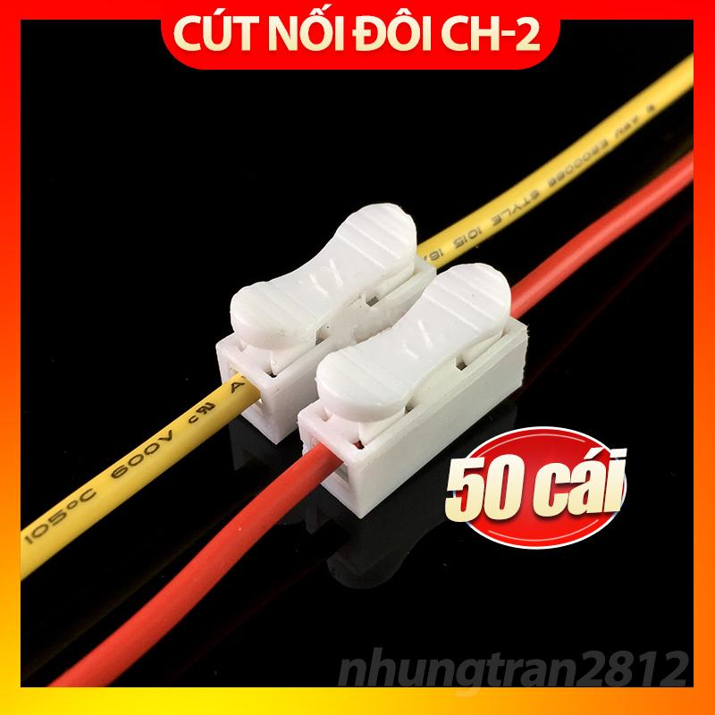 Bảng giá 50 Cút nối điện đôi, kẹp nối điện CH2