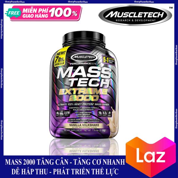Sữa Tăng Cân Mass Tech Extreme 2000 7lbs (3.18kg) [Tăng Cân Nhanh- Tăng Cơ Vượt trội]