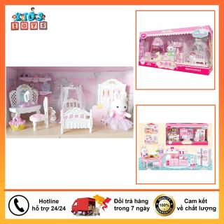 Đồ chơi búp bê, bộ phòng công chúa thỏ, đầy đủ chi tiết, đồ chơi nhập vai tiện giúp bé vui chơi thumbnail