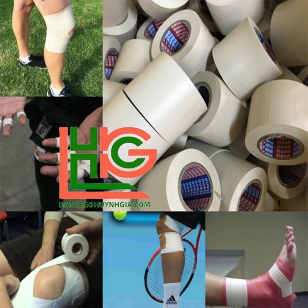 [Combo 1KG]  Băng keo thể thao Nano Nhật Bản, chuyên dụng trong bóng đá, chống trật khớp, hổ trợ vận động cường độ cao