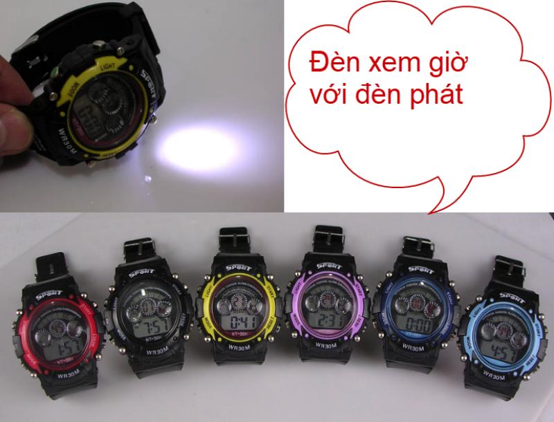 Nơi bán Đồng hồ điện tử NT-1811 phát sáng đèn pin , chống nước 3atm