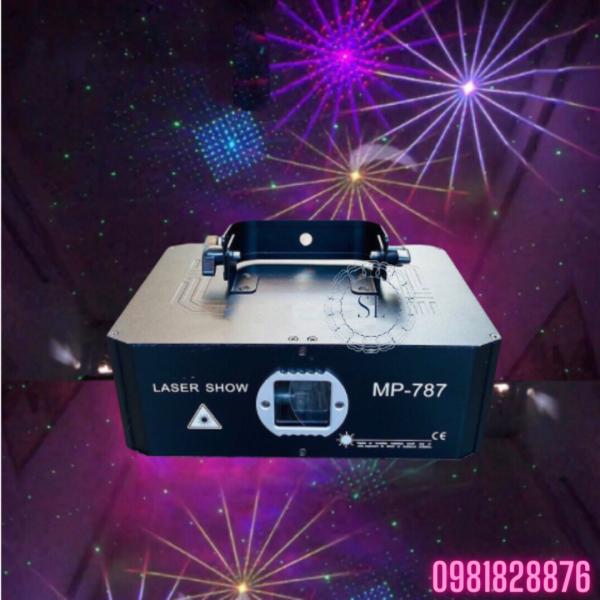 Đèn Laser MP 787 Chiếu Hình 3D Với Hơn 1000 Hiệu Ứng Cực Chất - Đèn Bay Phòng - Đèn Con Vịt