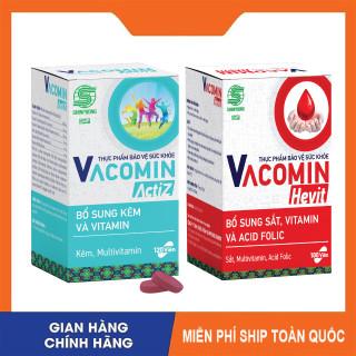 [CHÍNH HÃNG] Viên Uống VACOMIN ACTIZ 120 Viên & VACOMIN HEVIT 100 Viên - Bổ Sung Sắt, Vitamin, Kẽm, Nâng Cao Sức Đề Kháng, Đẹp Da, Phục Hồi Sức Khỏe, Tăng Cường Hệ Miễn Dịch - SHINPOONG PHARMA thumbnail