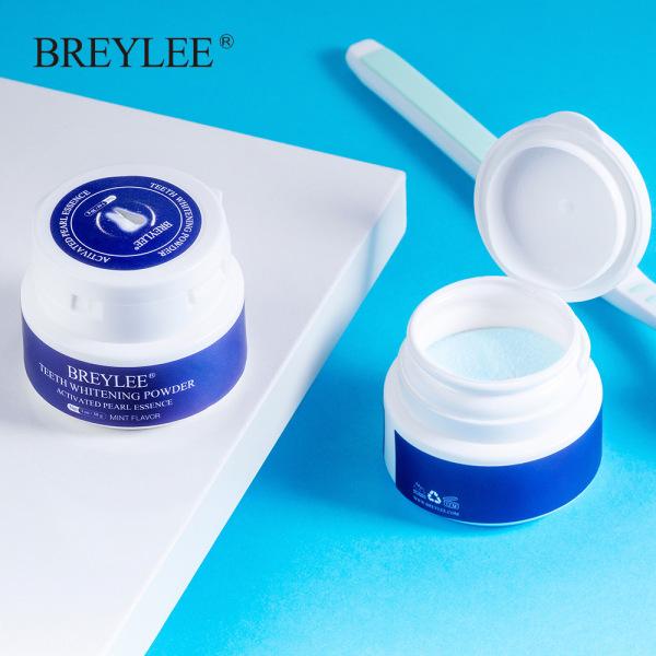 BREYLEE Bột Tẩy Trắng Răng Kem Răng Trắng Sạch Vệ Sinh Răng Miệng Bàn Chải Đánh Răng Gel Loại Bỏ Mảng Bám Vết Bẩn Teeth Whitening White Pearl Powder giá rẻ
