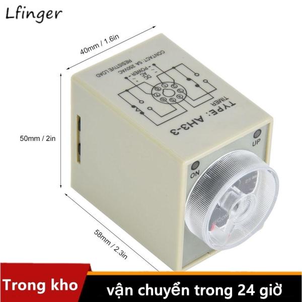Rơ Le Thời Gian 30S 8 Pins Timer 35Mm Din-Rail Cho Hệ Thống Tự Động Hóa Công Nghiệp 12V/24V/110V/220V