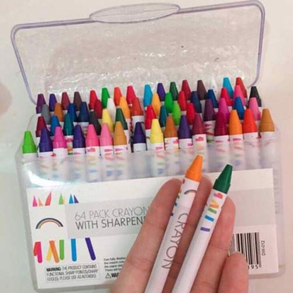 Mua combo 64 bút tô màu cho bé, Bộ 64 Bút Tô Màu Tiện Dụng Cho Bé , Hộp 64 bút mầu sáp tập tô cho bé yêu, Bộ 64 cây bút sáp màu các màu đặc biệt cho bé ,