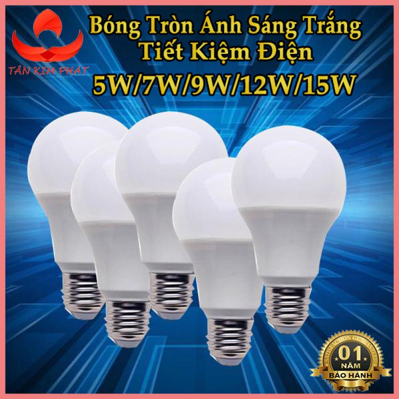 Bóng đèn LED Buld tròn trụ nhựa tiết kiệm điện Bảo Hành 1 năm công suất 5W - 7W - 9W - 12W - 15W Ánh sáng Trắng