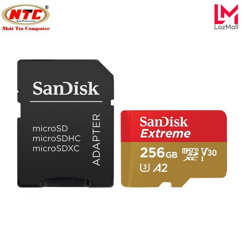 Thẻ Nhớ MicroSDXC SanDisk Extreme V30 U3 4K A2 256GB R160MB/s W90MB/s - kèm Adapter (Vàng) - Nhat Tin Authorised Store