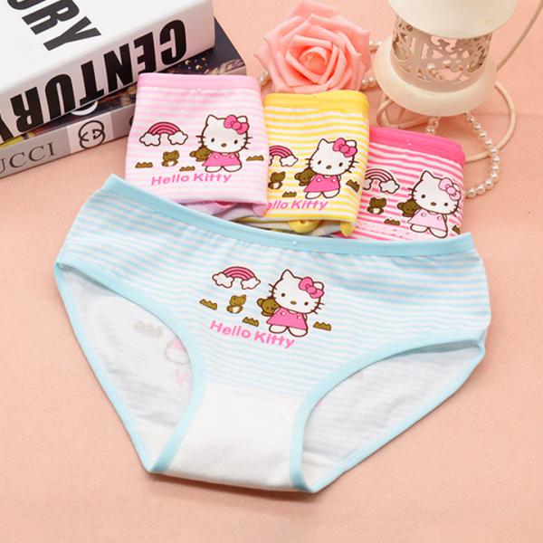 Giá bán Quần chip cotton hình Kitty cho bé gái 2-12 tuổi chất thun co giãn thoáng mát nhiều màu sắc BBShine – C014