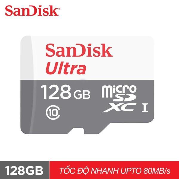 Thẻ nhớ micro SDXC Sandisk 128GB upto 80MB/s 533X Ultra UHS-I - Chính hãng