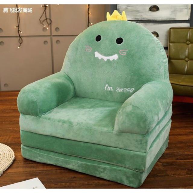 Ghế đệm sofa cho bé siêu mềm mại, sản phẩm mang chất lông nhung cực kì mịn đẹp, màu sắc bền, sinh động, là người bạn thân thiết không thể thiếu của các bé