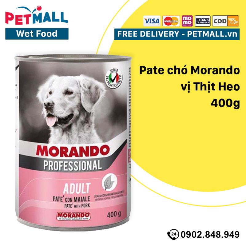 Combo Pate chó Morando vị Thịt Heo 400g - 6 lon Petmall