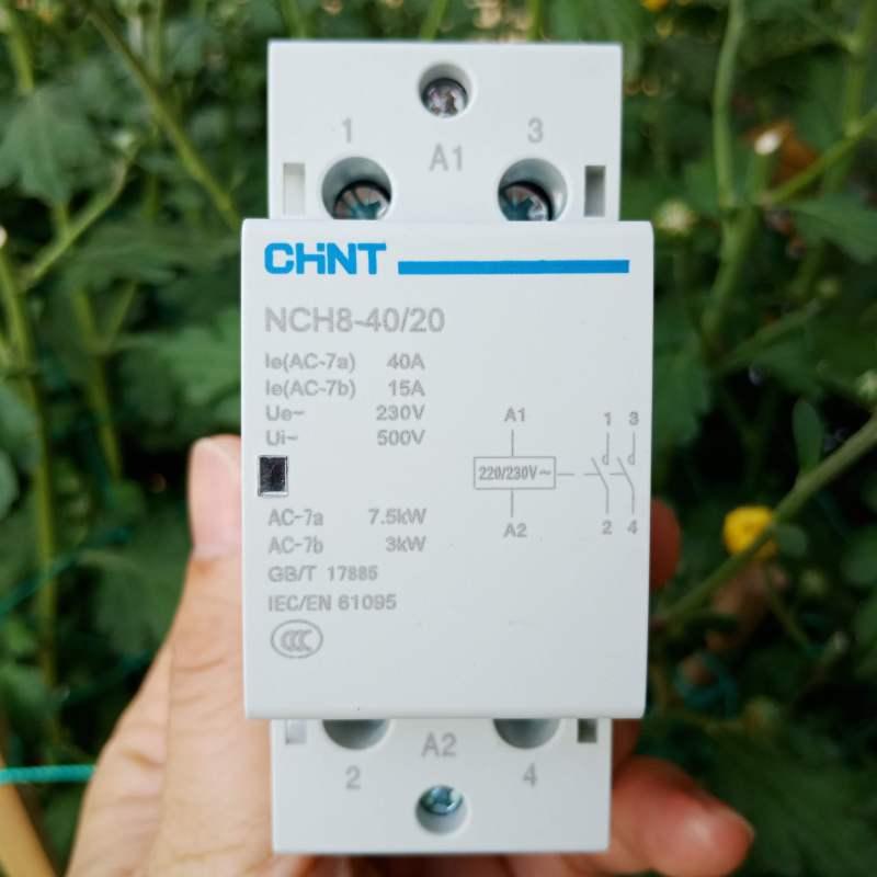 Khởi động từ 1 pha 220VAC 40A CHINT - Contactor