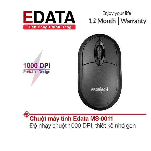 Bảng giá Chuột có dây Edata MS-0011, độ nhạy chuột 1000 DPI, hỗ trợ cho cả người dùng tay trái và phải, thiết kế nhỏ gọn Phong Vũ