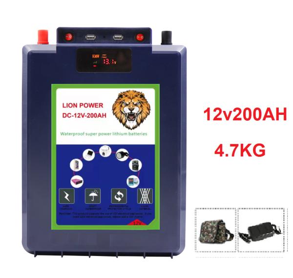 [Trả góp 0%] Pin Lithium 200Ah chống nước hoàn toàn tuyệt đối thông minh - 12v200Ah