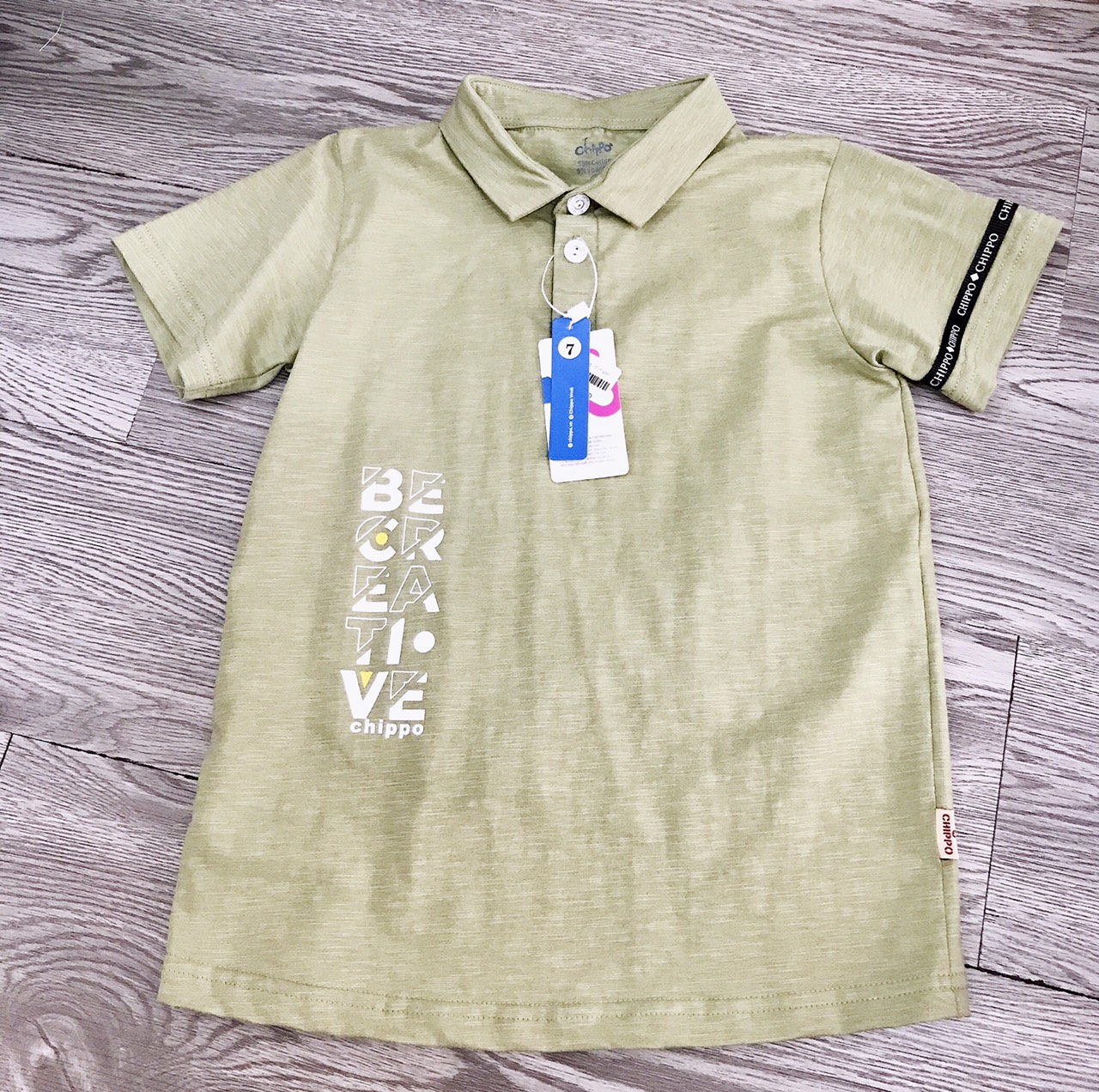áo phông có cổ hãng chippo  cho bé trai sz 14-20kg vm-42