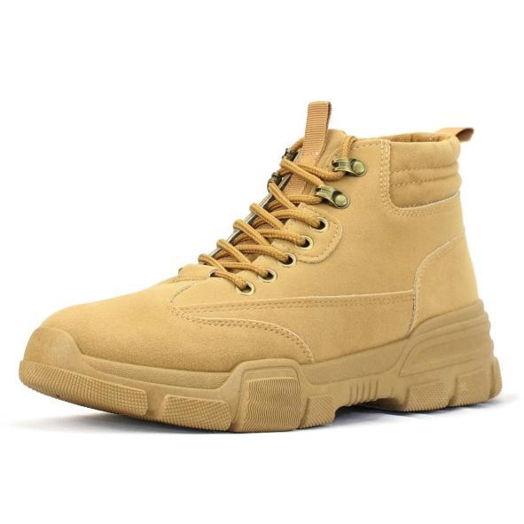 Giày Boot Cổ Cao Nam Cao Cấp Giả Da Lộn BCC001 Nâu giá rẻ