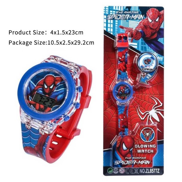Nơi bán Đồng hồ đồ chơi trẻ em Spider Man Đồng hồ đeo tay trẻ em nam thể thao Silicon kỹ thuật số