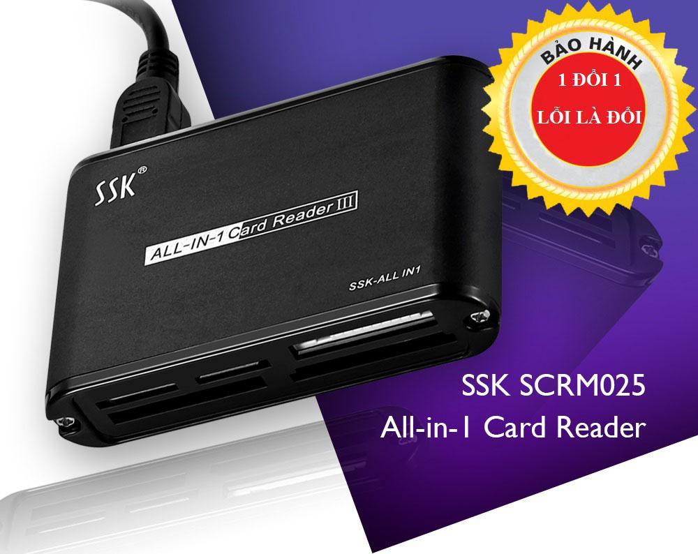 Đầu Đọc Thẻ Nhớ Đa Năng SSK SCRM025