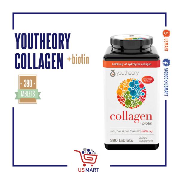 Viên uống Collagen có bổ sung Biotin - Youtheory Collagen Plus Bitotin (390 viên) giá rẻ