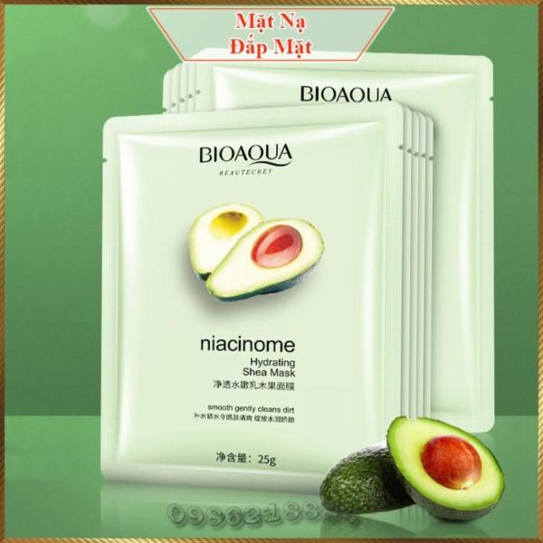 Mặt nạ quả bơ Bioaqua Niacinome Hydrating Shea Mask dưỡng ẩm chuyên sâu mềm mịn da BSM3 giá rẻ