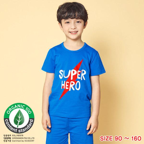 Đồ bộ ngắn tay mặc nhà cotton mịn cho bé trai U3024 - Unifriend Hàn Quốc, Cotton Organic