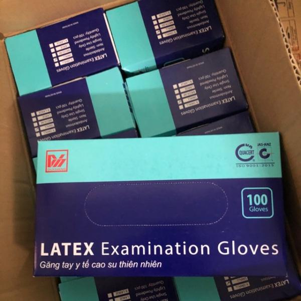 Găng tay y tế có bột Duy Hàng size L, hộp 100 cái cao cấp