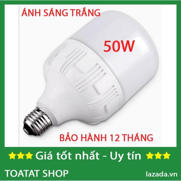 Bóng đèn LED trụ 50W đuôi đèn E27, chùm tia góc 360 độ, Lumens (lm) 900-1100LM, màu sáng Warm trắng (3000-3200K), Pure White (6000K-6500K) (Trắng)