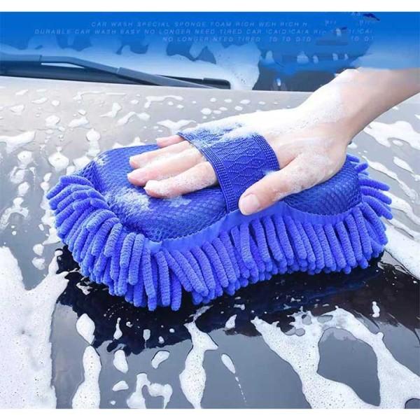 Miếng mút lau rửa ô tô, Xe máy bằng sợi có quai cầm - SIÊU MỀM