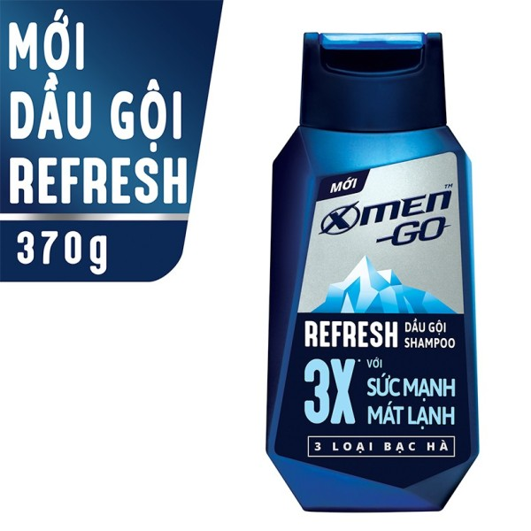 X Men -   Dầu gội X-Men Go REFRESH 3 Loại Bạc Hà 370G  - Giá Sỉ tốt nhất
