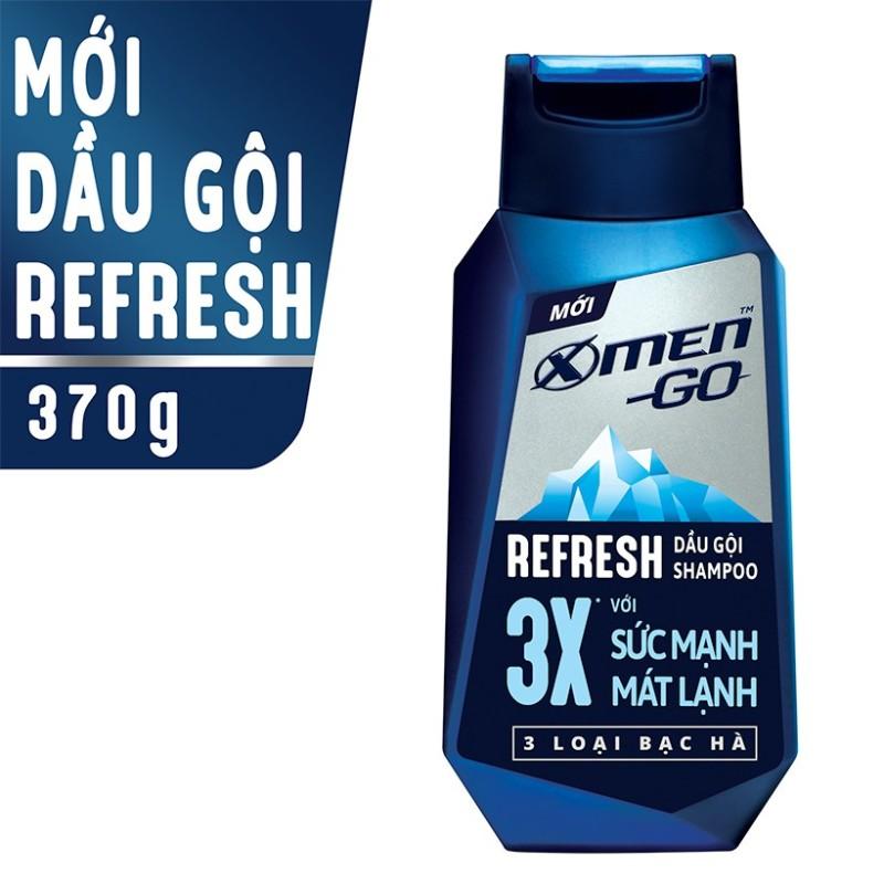 X Men -   Dầu gội X-Men Go REFRESH 3 Loại Bạc Hà 370G  - Giá Sỉ