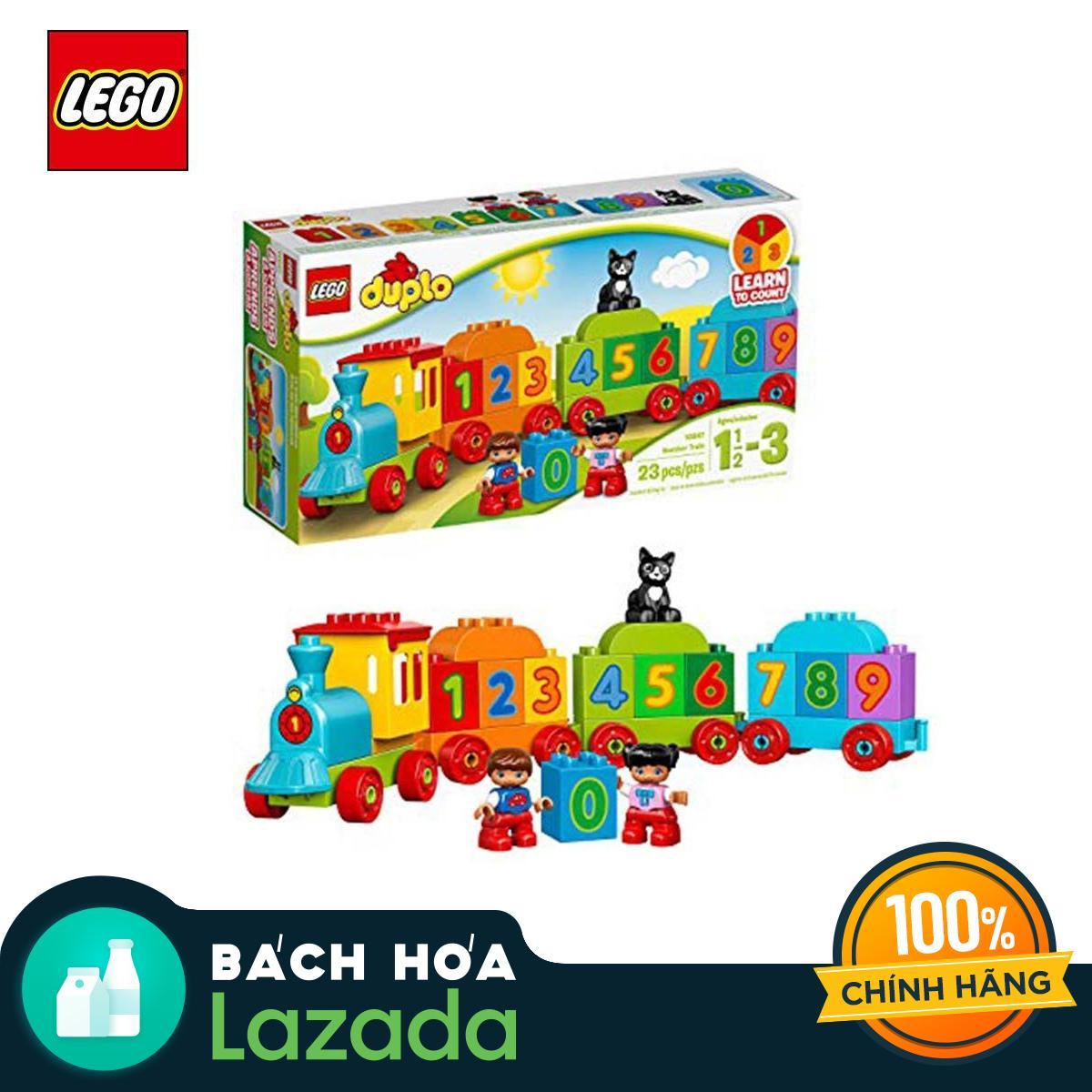 Đồ chơi lắp ráp Lego Tàu Lửa Học Số Mới