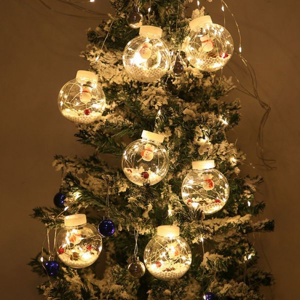 Bảng giá HGSDF DIY Cây Thông Noel Quà Tặng Năm Mới Ông Già Noel Bóng Thủy Tinh Ánh Sáng Rèm Chuỗi Ánh Sáng Quả Cầu Trang Trí Cho Cây Thông Noel Trang Trí Giáng Sinh