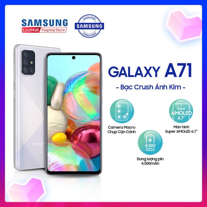 Điện Thoại Samsung Galaxy A71 128GB (8GB RAM) - Màn hình tràn viền vô cực 6.7 inch SuperAmold Full HD + Bộ 4 CAMERA SAU 64MP + Dung lượng Pin ấn tượng 4,500mAH - Hàng phân phối chính hãng.