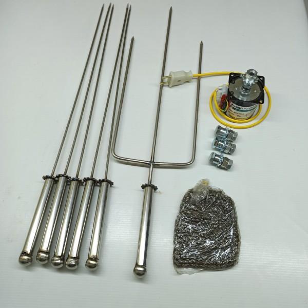 Mô tơ giảm tốc 220v - 20w + bộ chế máy nướng 6 xiên