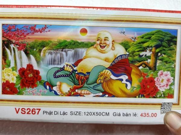 Tranh đính đá Phật Di Lặc VS267 KT:120cmx50cm