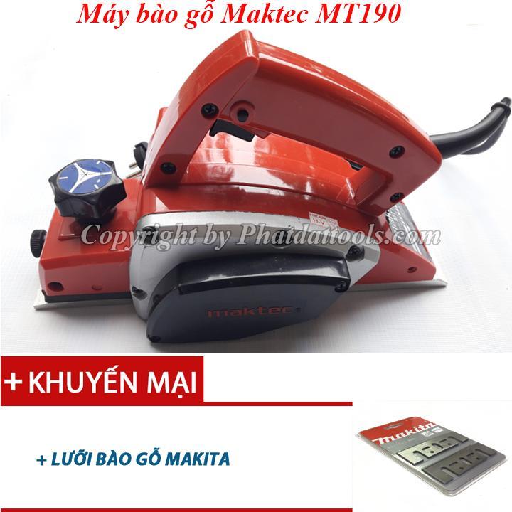 Máy bào gỗ cao cấp MT190-Công suất 580W-Tặng kèm lưỡi bào MKT-Bảo hành 6 tháng