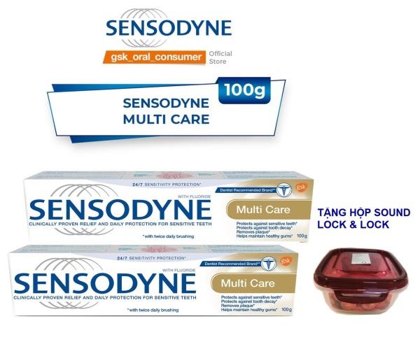 Bộ 2 Kem Đánh Răng Sensodyne Multi Care 100g - Tặng hộp sound Lock & Lock giá rẻ