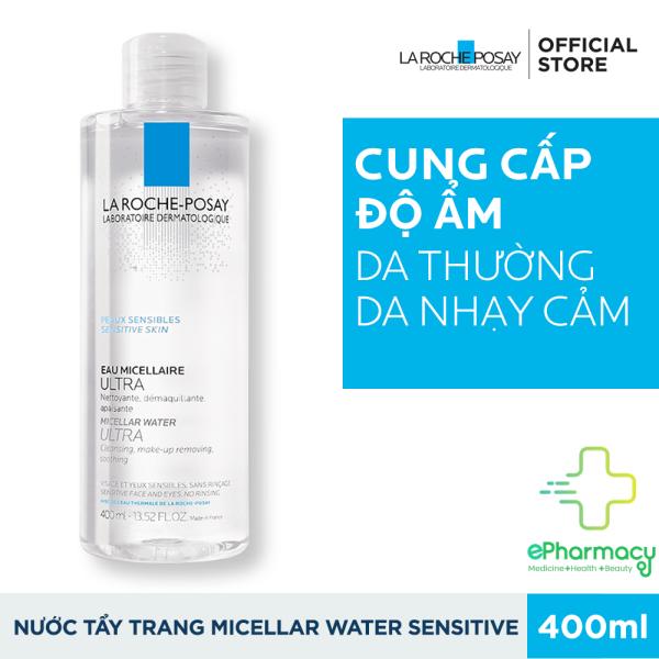 [HCM]Tẩy trang La Roche-Posay Micellar Water Ultra Sensitive Skin - Nước tẩy trang La Roche Posay cho da nhạy cảm nhập khẩu