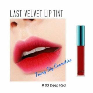 Son Kem Bbia Last Velvet Lip Tint Ver1 màu 03-đỏ hồng thumbnail