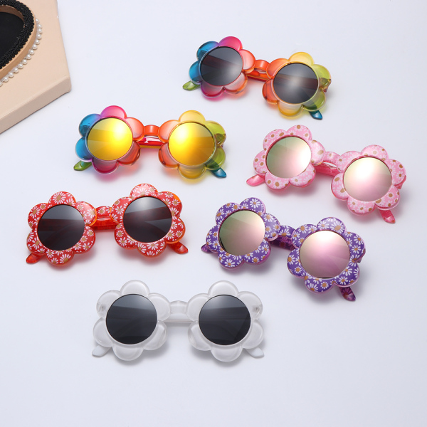 Giá bán CONFRONT REMISSION86ON8 Outdoor Photography Party Favors Travel Flower Shaped Kids Sunglasses Sunglasses for Toddler Girls Boys Round Flower Sunglasses