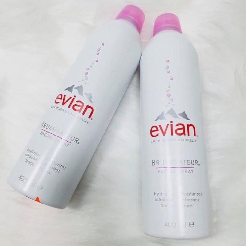 Nước xịt khoáng thiên nhiên Evian 400ml cao cấp