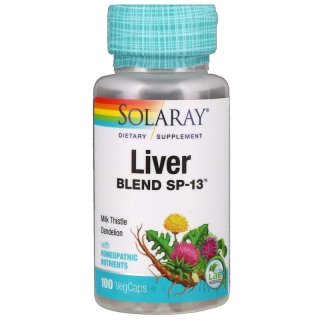 Giải độc gan, Solaray, Liver Blend SP-13, 100 VegCaps thumbnail
